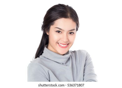 Young happy beauty healthy Asian woman with smile