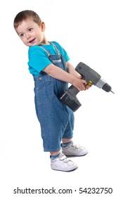 Young happy Builder