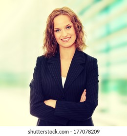 Young happy businesswoman