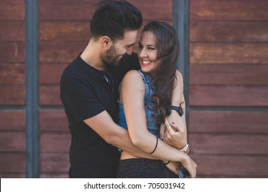Couple cuddling images stock photos vectors shutterstock young happy couple cuddling together outside altavistaventures Choice Image