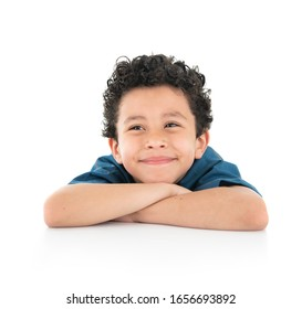 Young Happy Smiling Boy Isolated on White Background