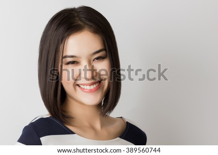 Young Healthy Asian Short Hair Woman Stock Photo Edit Now