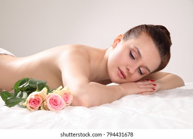 young healthy woman relax in spa