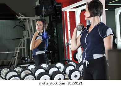 young healthy woman work out in fitness