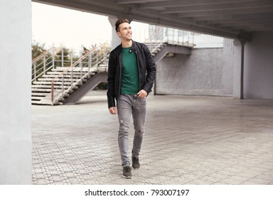 Young hipster man outdoors