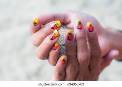 Summer Nail Design Images, Stock Photos & Vectors | Shutterstock