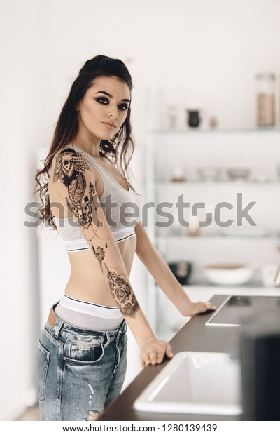 Home alone hot women Young Hot Girl Home Alone Kitchen Stock Photo Edit Now 1280139439