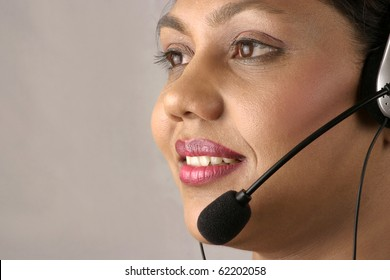 Young Indian Operator at a Call center