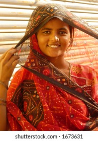 a young indian woman posing