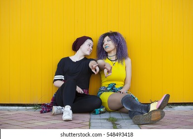 Young interracial teen girlfriends