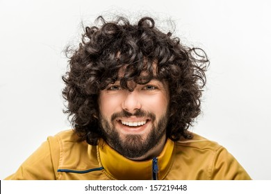Curly Hair Man Images Stock Photos Vectors Shutterstock