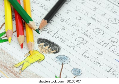 a young kid test paper