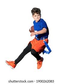Young kids playing flag football