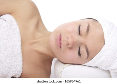 Young lady with towel