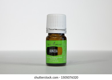 Young Living Essential Oils, Kunzea oil, isolated on a white background - San Antonio, Texas, USA - September 15, 2019