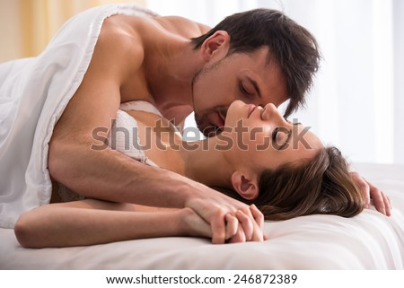 Hot couple bed scene