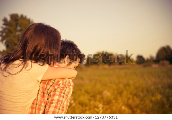 Young Lovely Couple Love Each Other Stock Photo Edit Now 1273776331