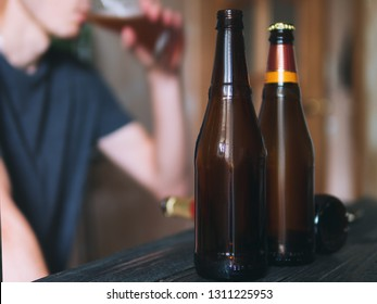 Young male alcoholic