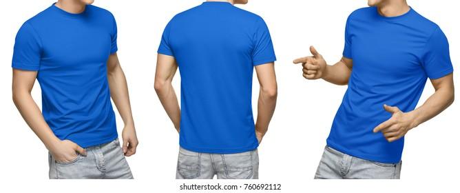Imágenes Fotos De Stock Y Vectores Sobre Blue Tshirt Mockup