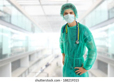young male doctor at the hospital