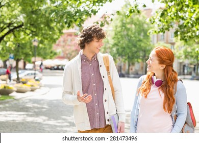 Two Students Talking Images, Stock Photos & Vectors
