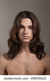 Young Male female man woman transgender Transsexual portrait