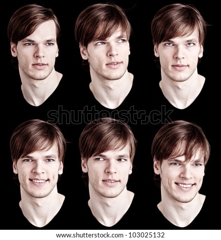 male model facial expressions
