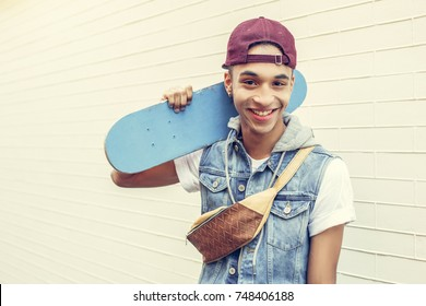 Young man african descent teen age concept