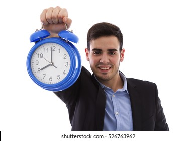 young man with alarm