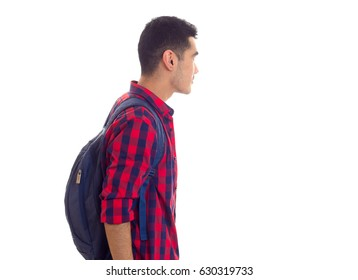 Young man with backpack