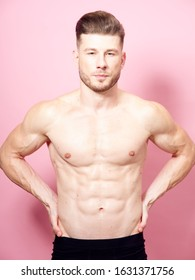 young man with a beautiful body isolated background