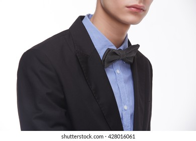 young man in bow tie