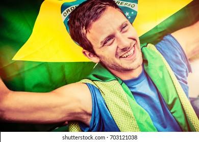 Young Man Brazilian Fan