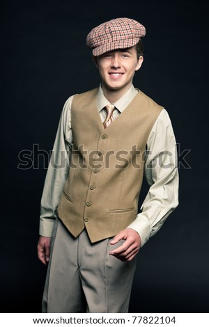 40ed7f76a5a Young Man Cap 20 S Style Stock Photo (Edit Now) 77822104 - Shutterstock