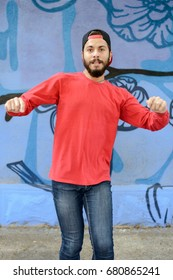 Young man dances