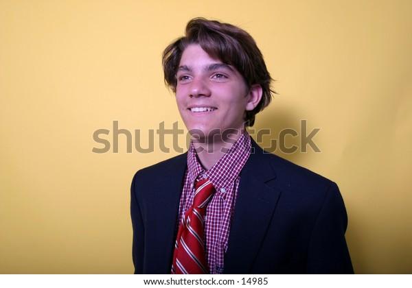 young man in dapper attire