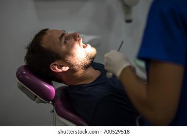 Young man at  dentist