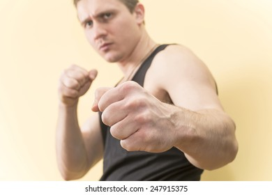 young man dressed in a Boxing stance