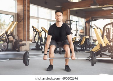 Young man exercise in the gym healthy lifestyle