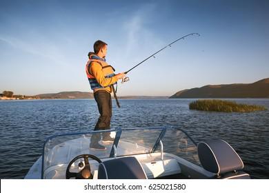 young man fishing