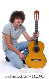 Young man and a guitar