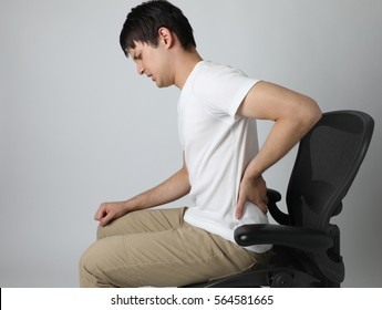 young man having a backache