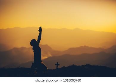 Sunset Jesus Images Stock Photos Vectors Shutterstock