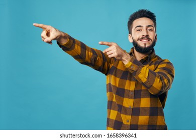 young man looking at the camera isolated background