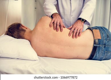 Young man medical treatment