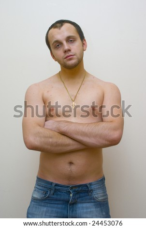 young man nake chest stock photo edit now 24453076 shutterstock