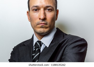 Young man on suit against clear background