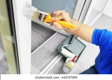 Man Painting House Images, Stock Photos & Vectors | Shutterstock
