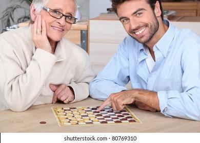 Imágenes, fotos de stock y vectores sobre Elderly Playing Games