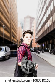 Young Man Portrait in the City